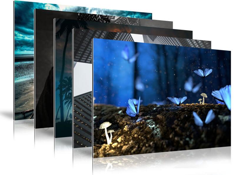 Varianten foto op dibond