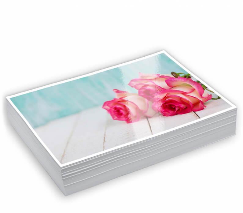 stapel kleine fotoprints glans