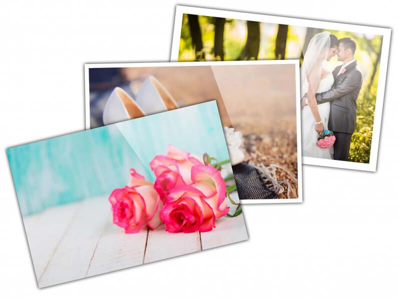 kleine fotoprints met witte rand