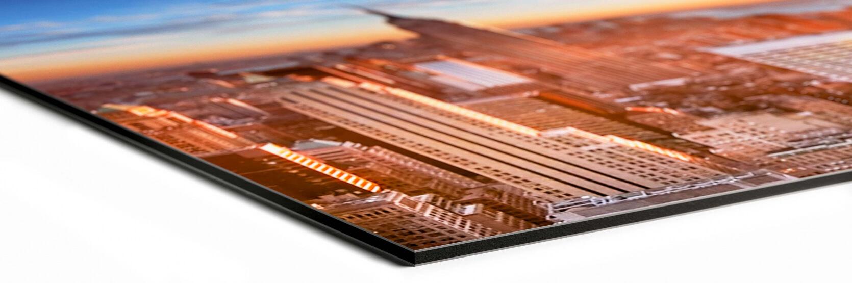 hoek foto op dibond mat