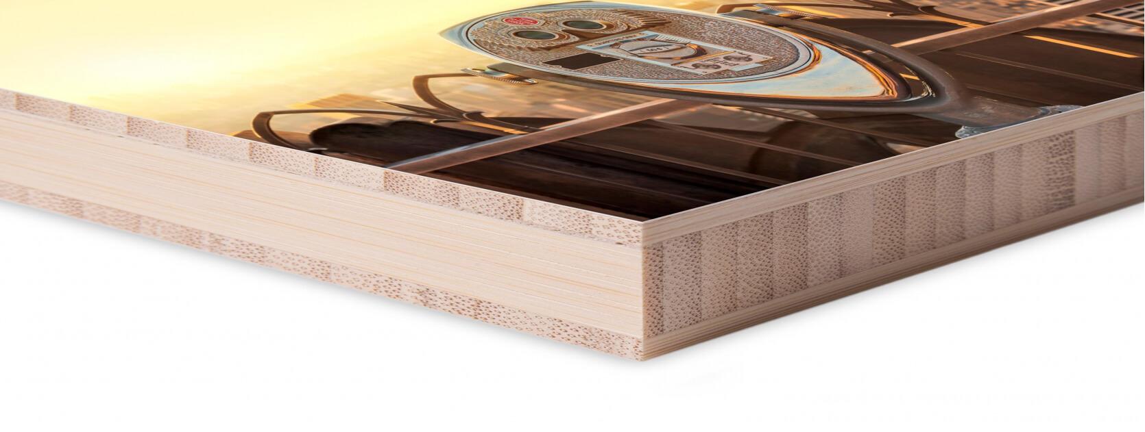 hoek foto op hout mat
