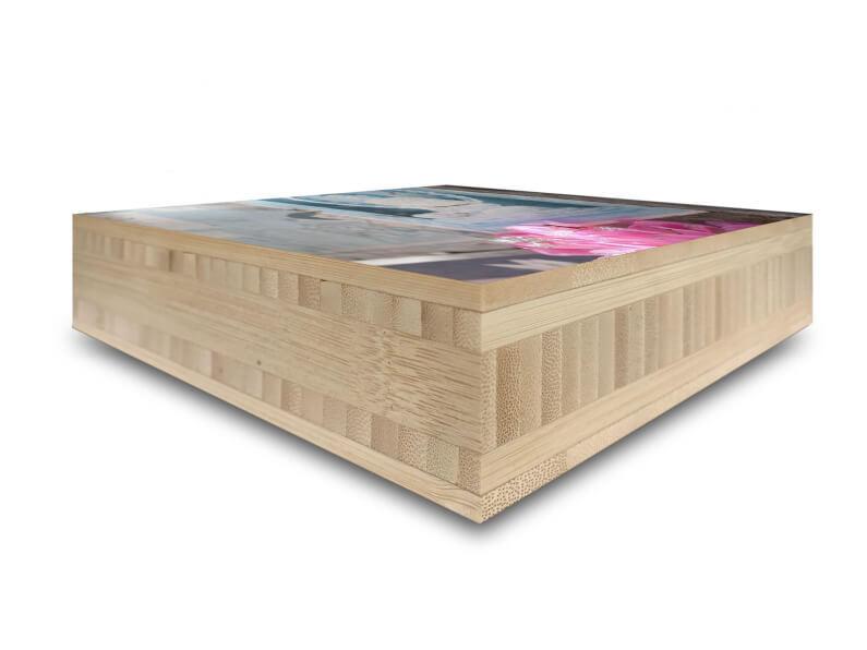 40mm foto block op hout mat